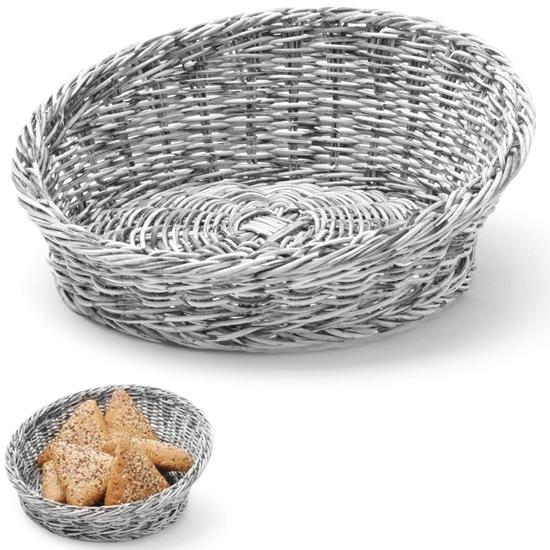 Kosz ekspozycyjny na pieczywo owoce skośny okrągły śr. 310 mm szary - Hendi 426562