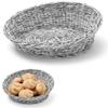 Kosz ekspozycyjny na pieczywo owoce skośny okrągły śr. 370 mm szary - Hendi 426586