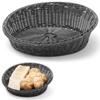 Kosz ekspozycyjny na pieczywo owoce skośny okrągły śr. 370 mm czarny - Hendi 426593