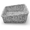 Kosz ekspozycyjny na pieczywo chleb skośny prostokątny szary 400x300x120 mm - Hendi 426661