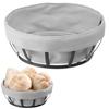 Koszyk pojemnik na pieczywo z szarym workiem okrągły - Hendi 427118