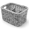 Koszyk dyspenser na sztućce przyprawy z 4 przegródkami czarny - Hendi 426067