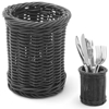 Koszyk na sztućce widelce noże łyżki okrągły czarny śr. 100x120 mm - Hendi 426210