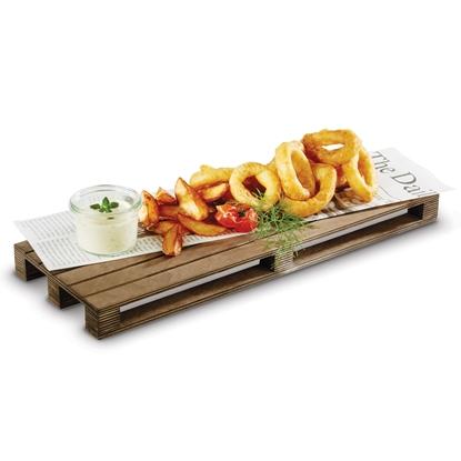 Deska taca do serwowania podawania dań burgerów steków MINI PALETA 300x200 mm - Hendi 566244
