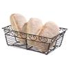Koszyk druciany do serwowania podawania pieczywa prostokątny dekoracyjny - Hendi 425855
