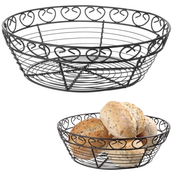 Koszyk druciany do serwowania podawania pieczywa okrągły dekoracyjny - Hendi 425862