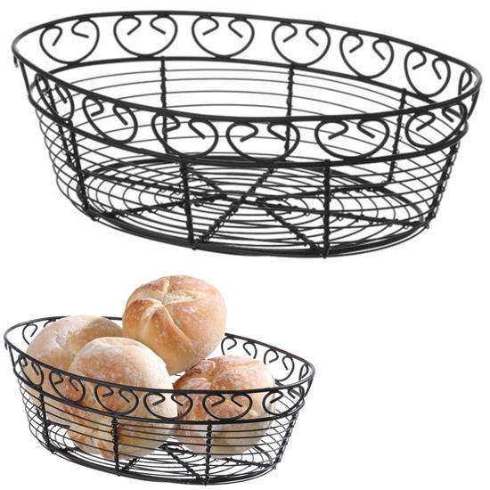 Koszyk druciany do serwowania podawania pieczywa owalny dekoracyjny - Hendi 425879