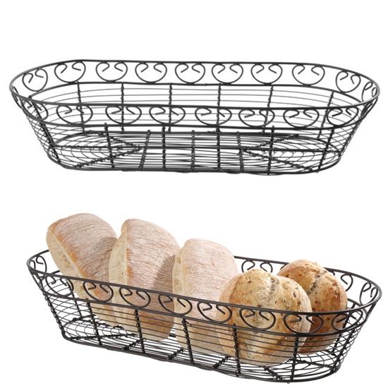 Koszyk druciany do serwowania podawania pieczywa podłużny dekoracyjny - Hendi 425886