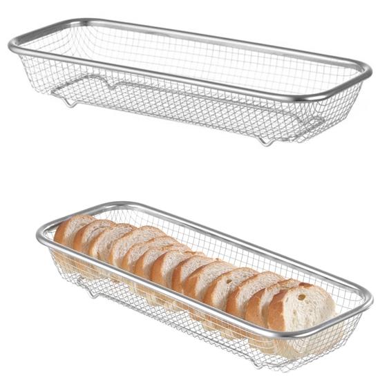 Koszyk druciany do serwowania pieczywa chleba bułek 310x125x55 mm - Hendi 425565