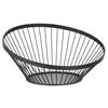 Koszyk miska druciana do owoców czarna z matową powłoką śr. 280 mm - Hendi 427088