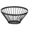 Koszyk miska druciana na owoce czarna z matową powłoką śr. 150 mm - Hendi 427095