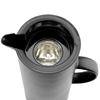Termos dzbanek próżniowy z przyciskiem i szklanym wkładem 1 l - Hendi 449615