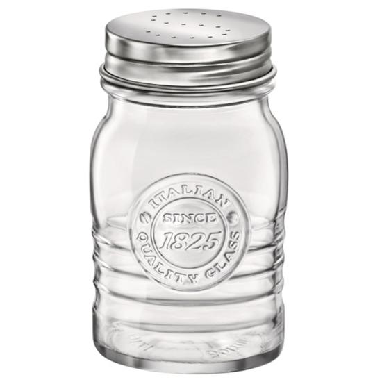 Solniczka szklana Officina 1825 SALE PEPE śr. 64 mm 240 ml 12 szt. - Hendi 777909