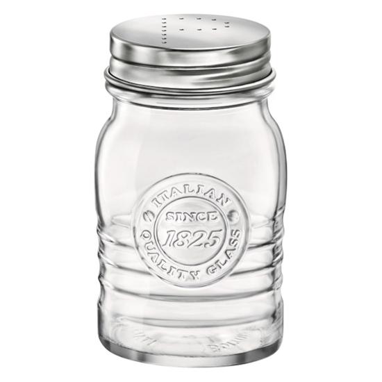 Pieprzniczka szklana Officina 1825 SALE PEPE śr. 64 mm 240 ml 12 szt. - Hendi 777916