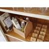 Organizer pojemnik stołowy na przyprawy sztućce drewniany z uchwytem - Hendi 664315