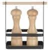 Organizer koszyk stołowy na przyprawy z drewnianą rączką 23x10x24 cm - Hendi 427040