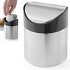 Kosz śmietniczka stołowa z uchylną pokrywką ze stali nierdzewnej śr. 95 mm - Hendi 440711