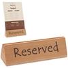 Tabliczka informacyjna RESERVED REZERWACJA drewniana - Hendi 664308