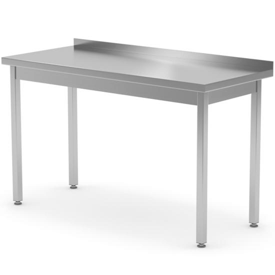 Stół blat roboczy stalowy przyścienny z rantem 100x70x85 cm - Hendi 812679