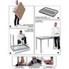 Stół blat roboczy stalowy centralny z półką 120x70x85 cm - Hendi 810712