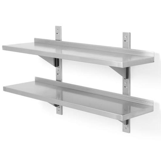 Półka wisząca przestawna z dwiema konsolami nierdzewna podwójna 100x40 cm - Hendi 816592