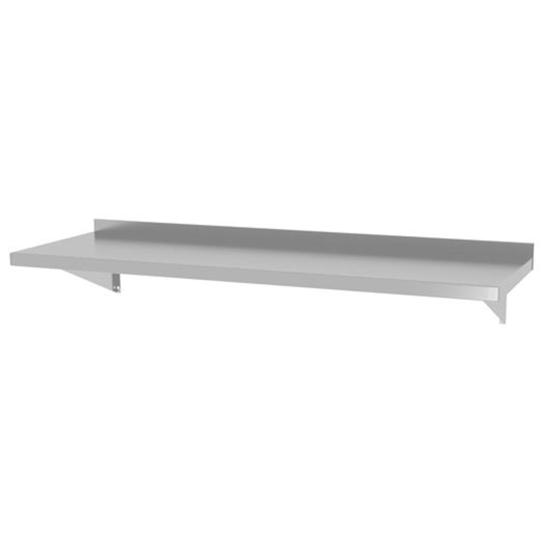 Półka ścienna wisząca na konsolach ze stali nierdzewnej spawana 120x30 cm - Hendi 816509