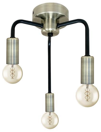 Lampa sufitowa patynowa + czarny mat 3xE14 Saga 33-01320