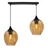 Lampa wisząca szklana czarno/brązowa 2xE27 Aspa 31-00583