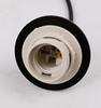 Lampa wisząca szklana czarno/brązowa 3xE27 Aspa 33-00606
