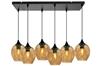 Lampa wisząca szklana czarno/brązowa 6xE27 Aspa 36-00620