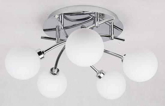 Lampa sufitowa chromowa 5x40W plafon Agapant 35-03324