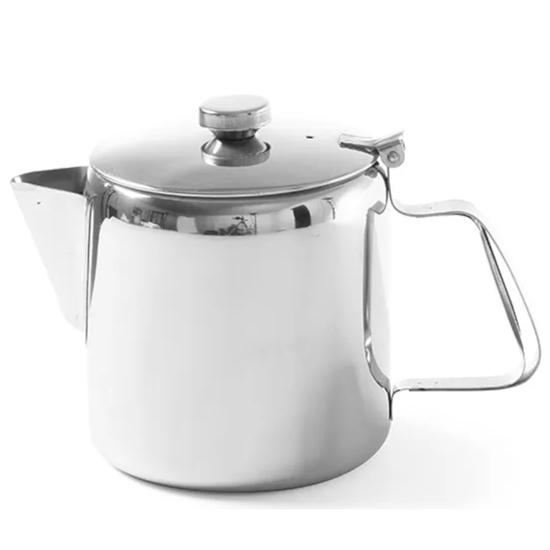 Dzbanek imbryk z pokrywką ze stali nierdzewnej do kawy herbaty 0,9L - Hendi 453308