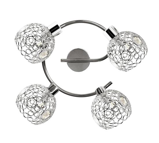 Lampa sufitowa spirala 4xG9 chrom+kryształ Aron 98-12340