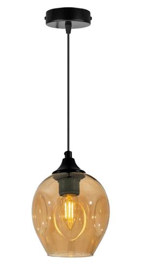 Lampa wisząca szklana czarno/brązowa Aspa 31-00583