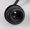 Kinkiet czarny klosz szklany bursztynowy Felis 21-00163