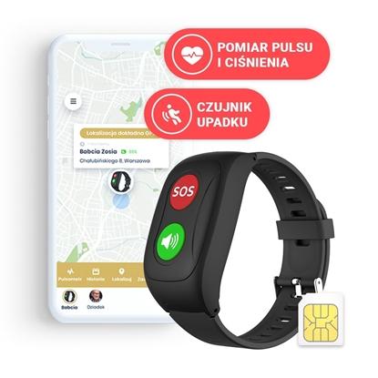 Locon Life — Opaska SOS dla seniora z GPS, pomiarem pulsu i ciśnienia, czujnikiem upadku oraz nielimitowanymi rozmowami