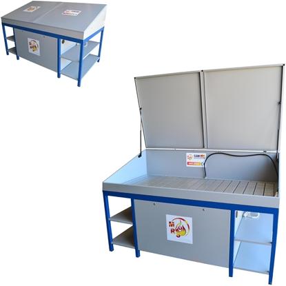 Myjka warsztatowa stół warsztatowy do mycia części i narzędzi MST 2000 z pokrywą