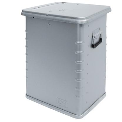 Bezpieczny pojemnik skrzynia transportowa na dokumenty do zniszczenia aluminiowa wzmocniona 70L