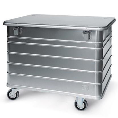 Bezpieczny pojemnik skrzynia transportowa na dokumenty do zniszczenia aluminiowa wzmocniona 415L